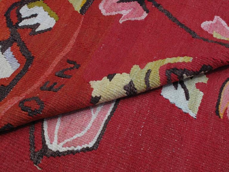 Wool North Anatolian Kilim For Sale