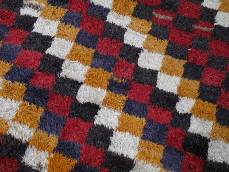 """Tulu"" Rug with Checkered-Diagonal Pattern 6"
