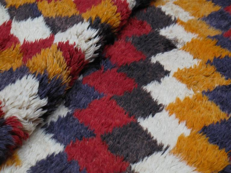 """Tulu"" Rug with Checkered-Diagonal Pattern 8"