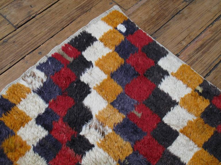 """Tulu"" Rug with Checkered-Diagonal Pattern 9"
