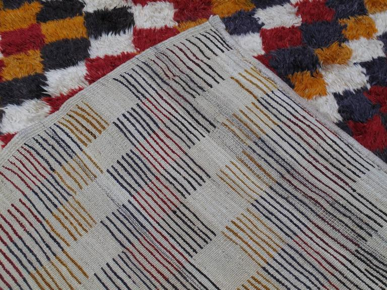 """Tulu"" Rug with Checkered-Diagonal Pattern 10"