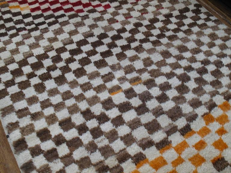 "Turkish Checkerboard ""Tulu"" Rug For Sale"