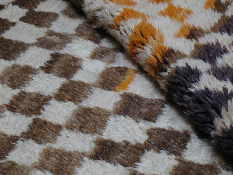 "Wool Checkerboard ""Tulu"" Rug For Sale"
