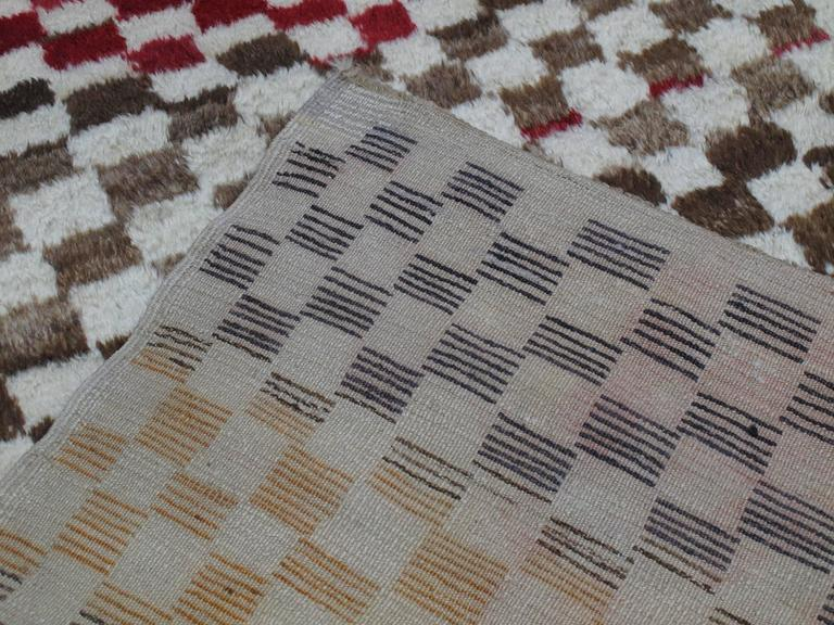 "Checkerboard ""Tulu"" Rug For Sale 2"