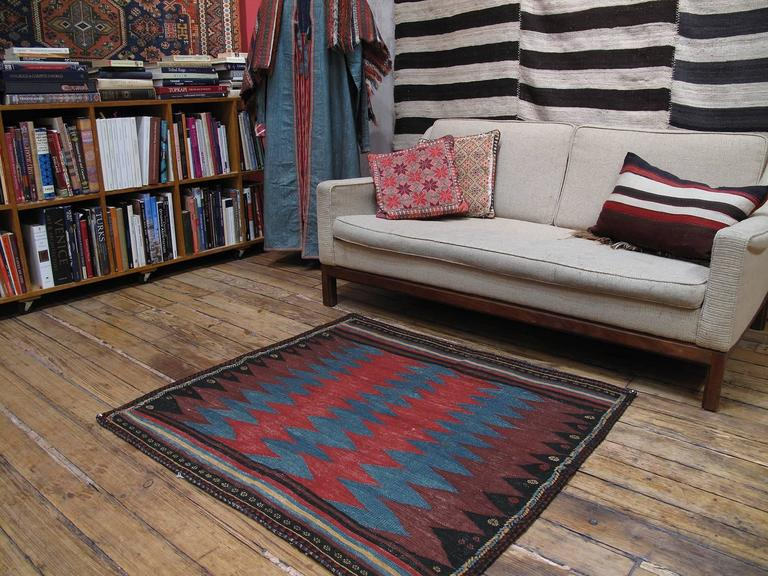 An old tribal flat-weave from Southern Iran, attributed to Afshar weavers, intented for use as a