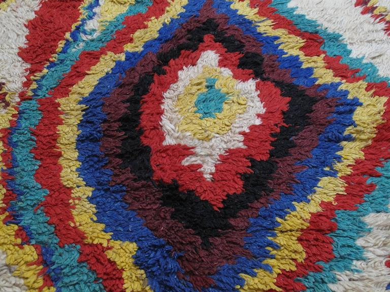 20th Century Striking Azilal Berber Moroccan Rug For Sale
