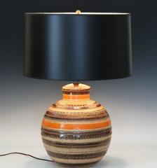 Bitossi Londi Rimini Raymor MCM Sahara Decor Pottery Italian Ceramic Lamp