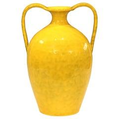 Vintage Italian Pottery Bright Yellow Italica Ars for Rosenthal-Netter Vase