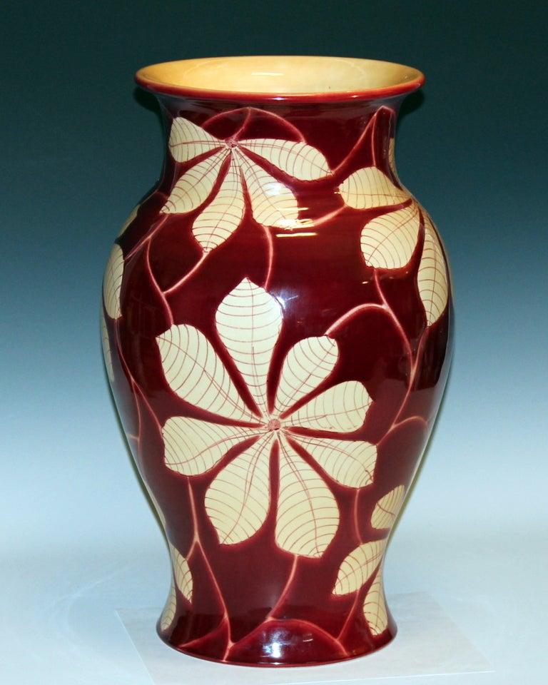 Modern Vintage Italian Bellini Pottery Vase for Wannamaker's For Sale