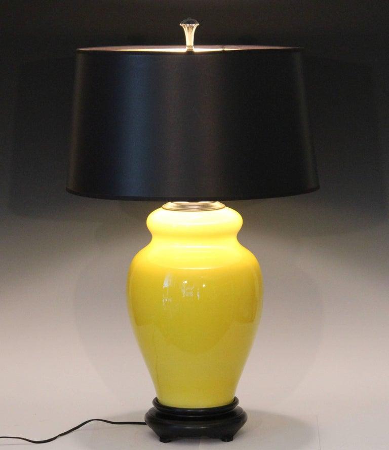 Alvino Bagni Atomic Chrome Crackle Yellow Italian Pottery Raymor Gourd Lamp For Sale 4