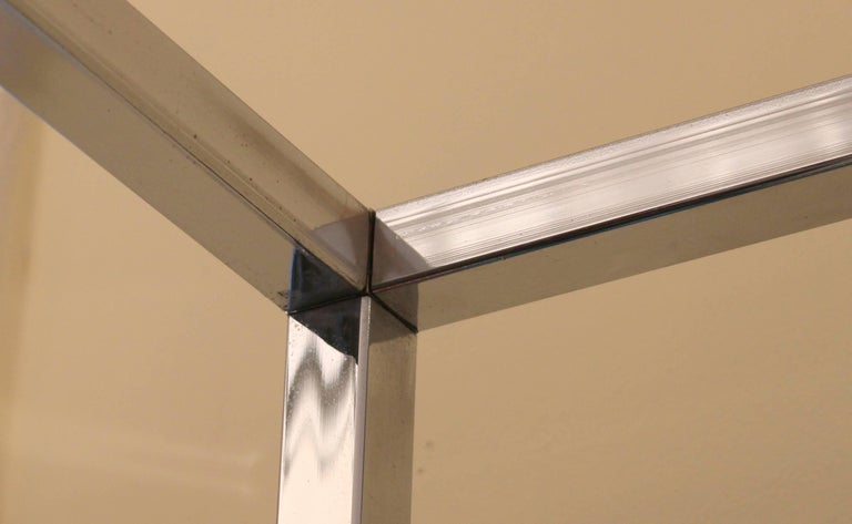 Mid-Century Modern Midcentury Chrome Metal Shelf Étagère Display Baughman For Sale