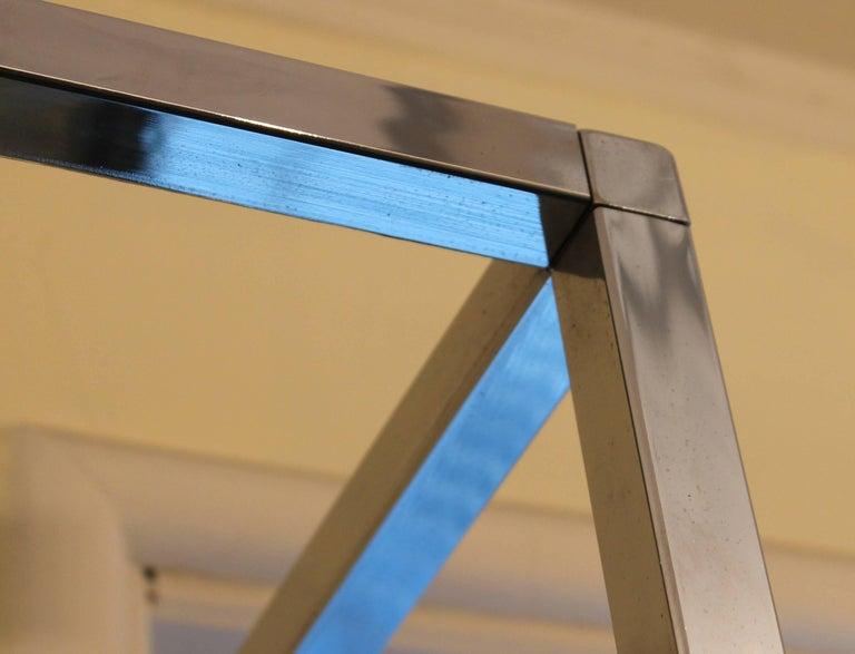 American Midcentury Chrome Metal Shelf Étagère Display Baughman For Sale