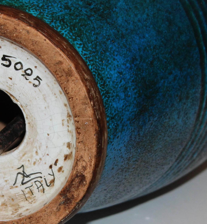Italian Ming Zaccagnini Vintage Italian Pottery Turquoise