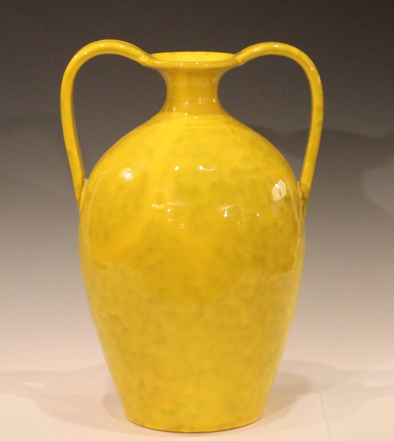Vintage Italian Pottery Bright Yellow Italica Ars For Rosenthal Netter Vase At 1stdibs