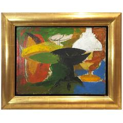 French Mid-Century Abstract Still Life Painting