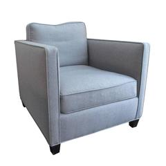 Flair Home Collection Custom Roma Chair in Grey Flannel