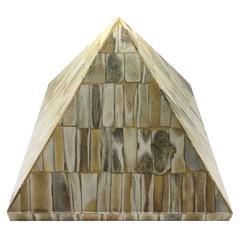1970s Decorative Tiled Bone Pyramid