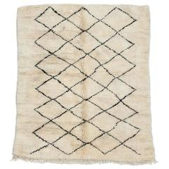 Beni Ourain Moroccan Rug with Multi-Diamond Pattern