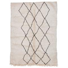 Beni Ourain Moroccan Rug with Three Column Diamond Pattern