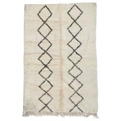 Beni Ourain Moroccan Rug with Two Column Diamond Pattern