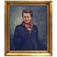 1940s Belgian Portrait by Raphael Dubois