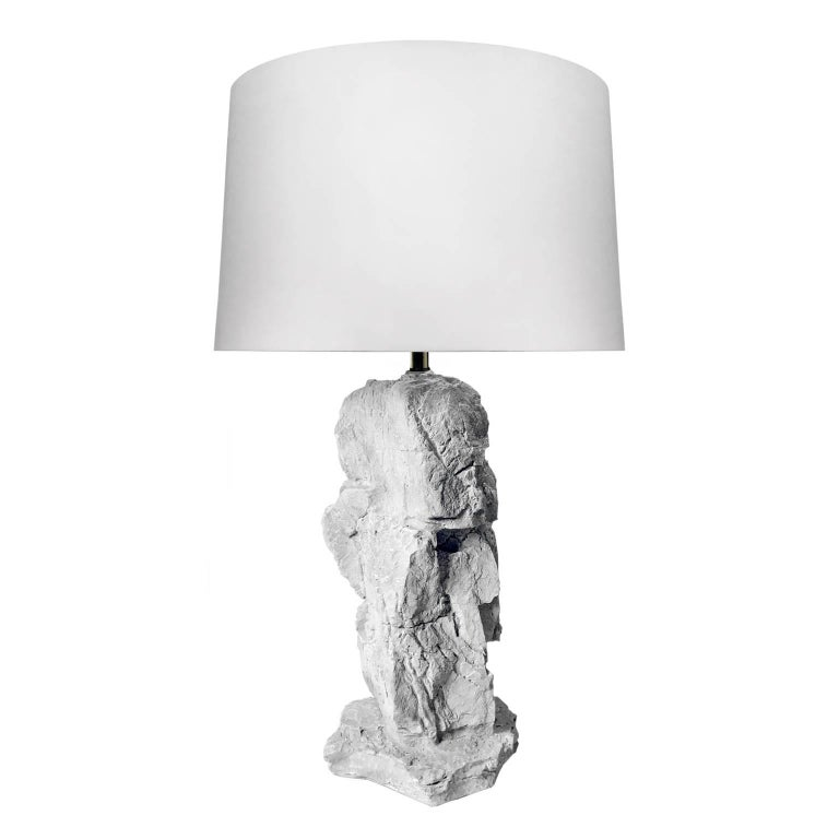 1970s Plaster Rock Lamp For Sale