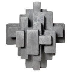 """Daan"" Cement Toned Freestanding Sculpture by Dan Schneiger"