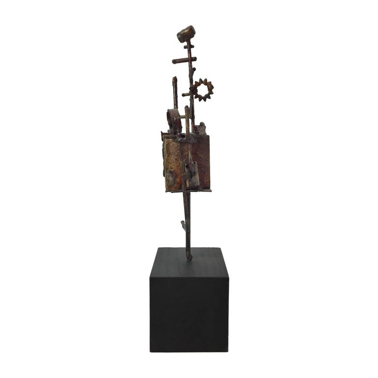 1970s Brutalist Welded Metal Sculpture by R.E. Andermann For Sale