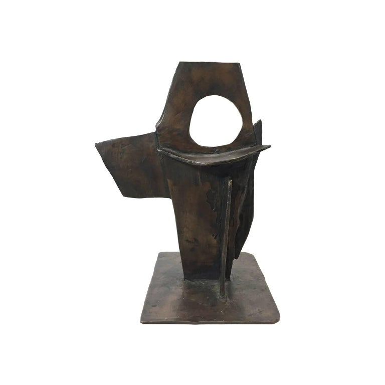 American Abstract Geometric Bronze Sculpture For Sale
