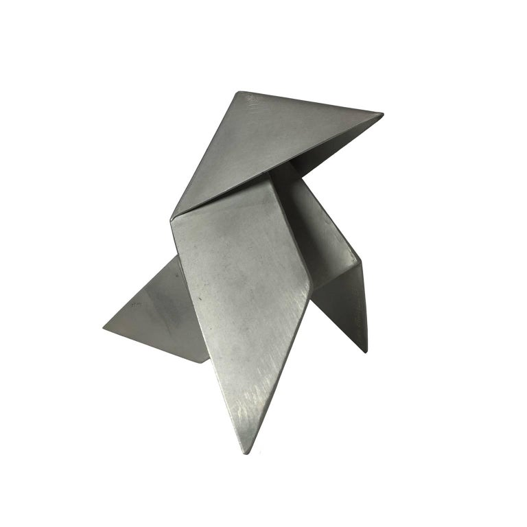 Metal Origami Bird Sculpture 1