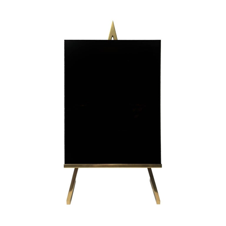 1970s Brass Tabletop Easel For Sale
