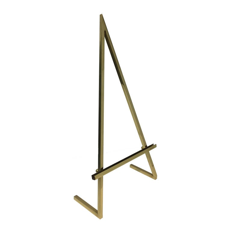 Brass tabletop easel. Stamped