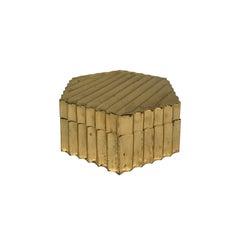 1970s Ribbed Brass Box