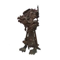 1970s Abstract Tripod Spill Cast Sculpture