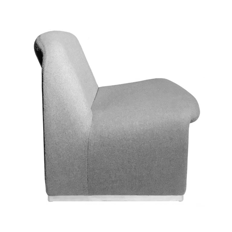 Alky chair in original grey upholstery by Giancarlo Piretti for Castelli, Italy, 1970s.
