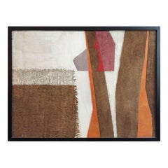 Mixed-Media in White, Orange, Grey and Violet Tones by George North Morris