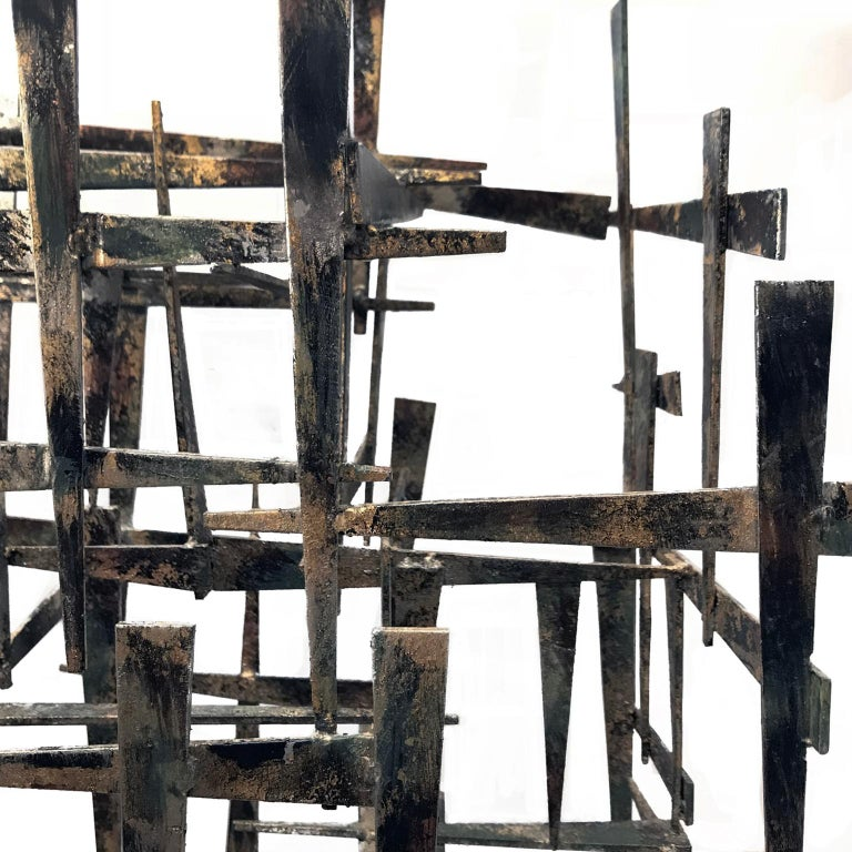 1970s Large Welded Brutalist Metal Sculpture In Good Condition For Sale In New York, NY