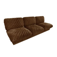 "1970s Harvey Probber ""Pillow Puff"" Armless Three-Seat Sofa"