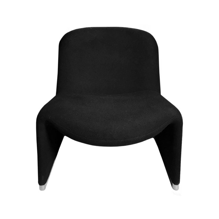 Alky Chair in Black by Giancarlo Piretti for Castelli In Good Condition For Sale In New York, NY