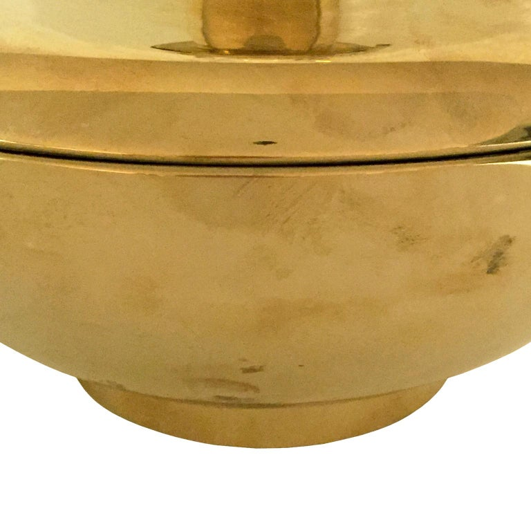 1970s Spanish Polished Brass Jar Lamp with Tall Black Drum Shade In Good Condition For Sale In New York, NY
