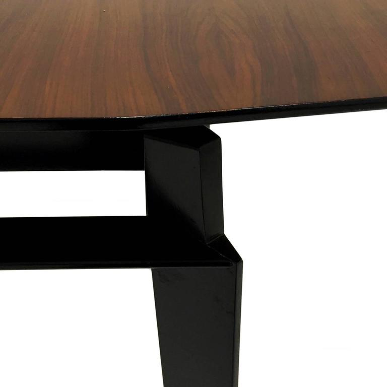Mid-20th Century Mid-Century Italian Extendable Rosewood Dining Table by Vittorio Dassi For Sale