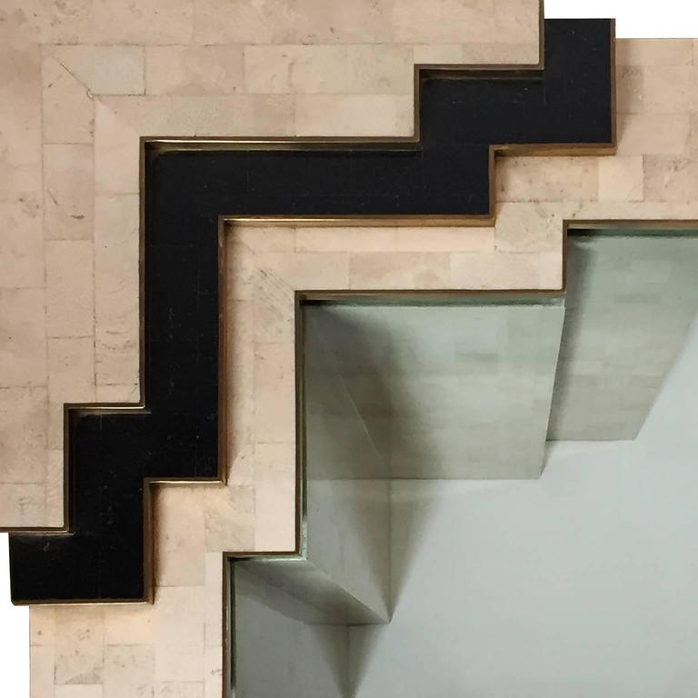 1970s Tiered Tessellated Stone and Glass Console by Maitland-Smith  3