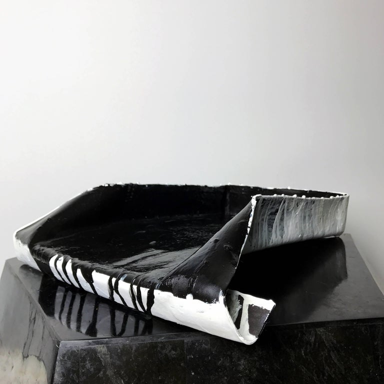 """""""Object of Guilt 03"""" Hand Folded and Painted Leather Tray by Act of Guilt 2"""