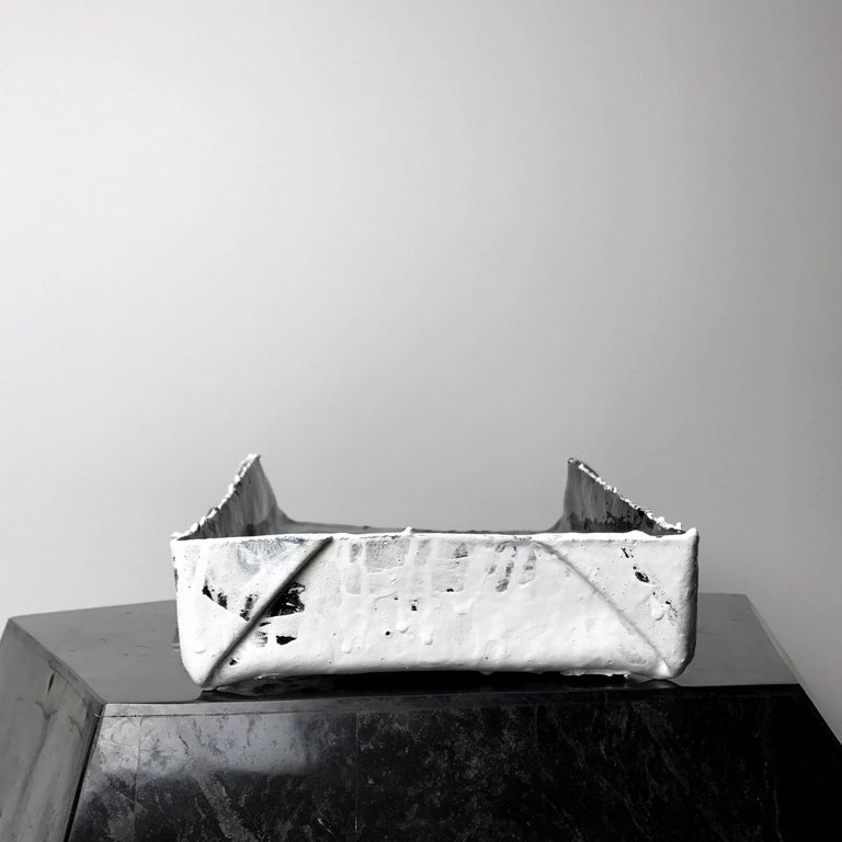 """""""Object of Guilt 03"""" Hand Folded and Painted Leather Tray by Act of Guilt 4"""