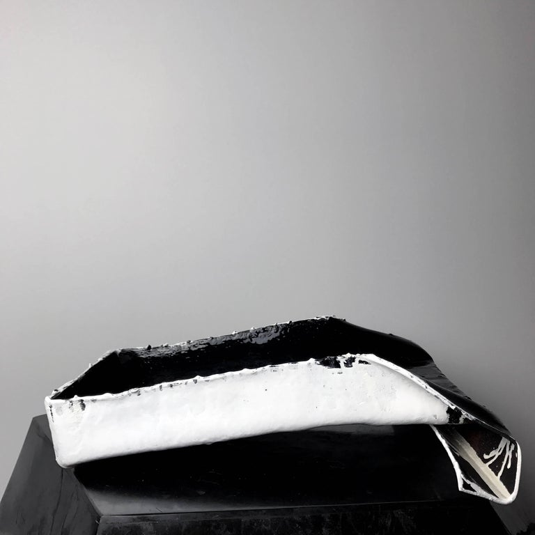 """""""Object of Guilt 03"""" Hand Folded and Painted Leather Tray by Act of Guilt 5"""