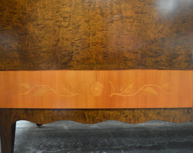 Swedish Art Deco Moderne Intarsia Sideboard Buffet Cabinet For Sale 2