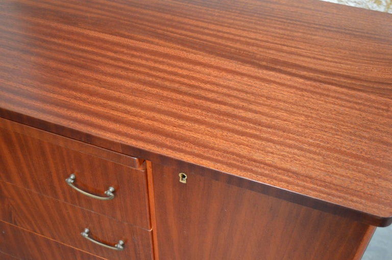 Swedish Art Moderne Mahogany Buffet Server Chest In Excellent Condition For Sale In Atlanta, GA