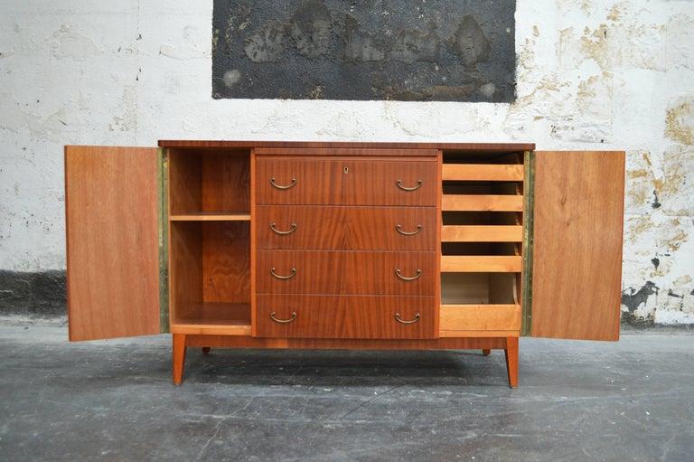 Mid-20th Century Swedish Art Moderne Mahogany Buffet Server Chest For Sale