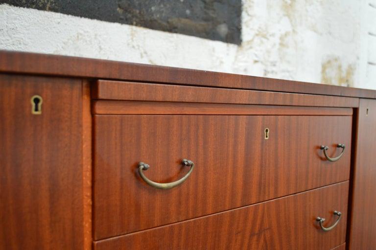 Swedish Art Moderne Mahogany Buffet Server Chest For Sale 4