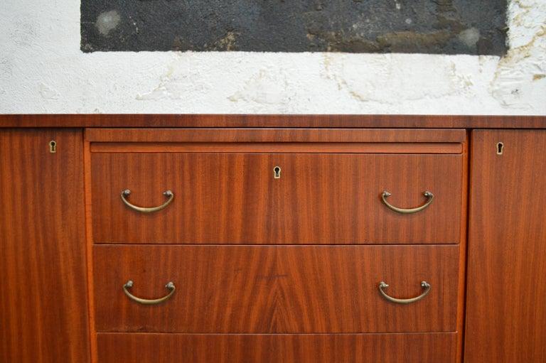 Swedish Art Moderne Mahogany Buffet Server Chest For Sale 5